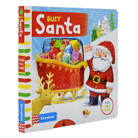 【首页抢券300-100】Busy Santa 忙碌系列纸板机关书 圣诞老人 机关操作书3-6岁 互动故事绘本 英文原版