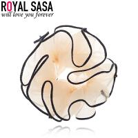 皇家莎莎发圈头绳扎头发饰品头饰发绳韩国版泡泡纱橡皮筋头花发饰