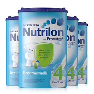 德国直邮 荷兰Nutrilon牛栏奶粉4段(12-24个月宝宝) 800g【4罐装】