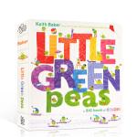 【发顺丰】英文进口原版 Little Green Peas 儿童颜色字母启蒙纸板认知书 小豆子系列经典纸板书Keith