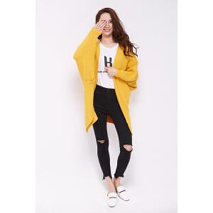 兔绒纯色宽松慵懒蝙蝠袖针织开衫毛衣外套中长款韩版2017新款女装