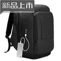 商务双肩包男寸电脑包大容量青年短途出差旅行包多功能防盗背包