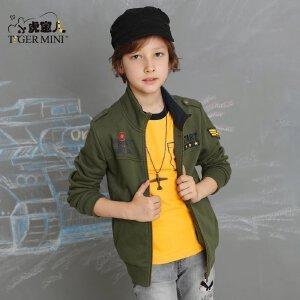 男童秋装外套2017新款 儿童休闲加绒防风军旅7童装夹克8中大童9岁