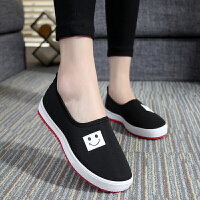 春夏季新品韩版休闲时尚女士老北京布鞋女鞋学生单鞋帆布鞋一脚蹬