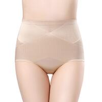 2条装 中腰收腹内裤女夏季薄款提臀产后塑身裤无痕超薄收小腹 肤色 (2条装) M 推荐80-100斤