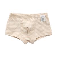 秋季彩棉三角平角内裤中大童贴身内裤三条装