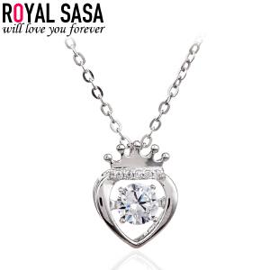皇家莎莎S925银项链女锁骨链学生日韩简约吊坠首饰品生日礼物送女友