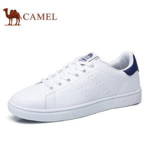 【领券下单立减111元】camel骆驼男鞋  春季新品 百搭时尚滑板鞋情侣款舒适轻盈小白鞋