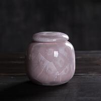 陶瓷结晶釉中大号密封茶叶罐存储罐锡罐便携茶叶罐普洱铁观音红茶
