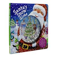 Santa's Snow Globe 仿真玻璃雪球封面 圣诞老人的雪球 英文原版