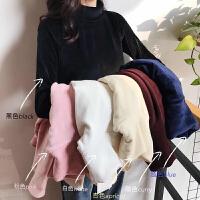 洋气高领加绒打底衫女秋冬新款韩版修身加厚内搭上衣长袖T恤
