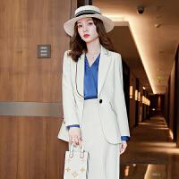 单件/套装西装职业2021秋冬款长袖英伦风小西服时尚女神范两件套