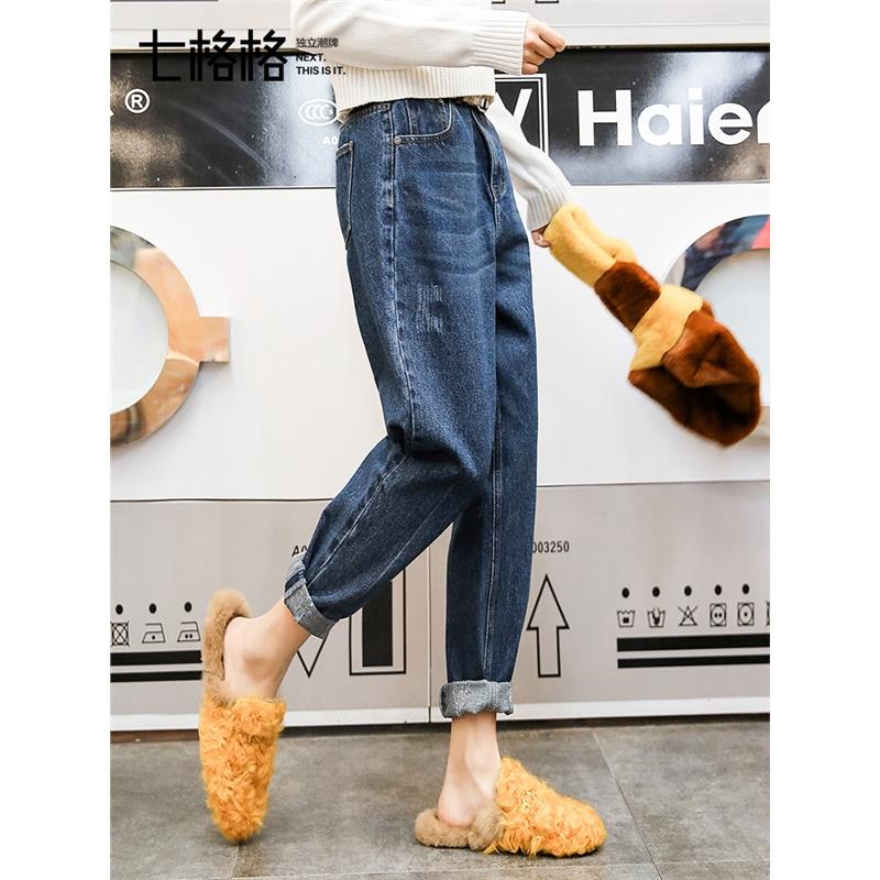 【38女王节 2折到手价:139.8元】老爹裤宽松牛仔裤春装女新款韩版显瘦直筒高腰阔腿裤子