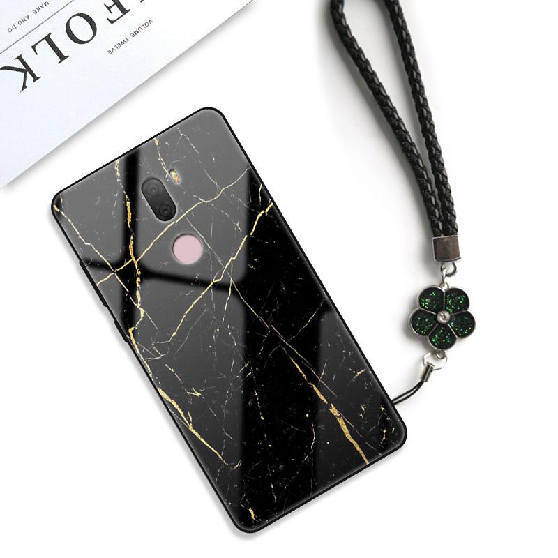 小米5s手机壳女防摔硅胶5splus软保护套大理石玻璃note3网红简约米5个性创意mi
