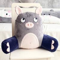 【超值热卖】猪猪可爱汽车座椅腰枕办公室抱枕女靠垫电脑椅子靠背垫护腰靠枕男【】
