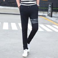 男士运动裤长裤薄直筒修身休闲裤针织裤 小脚裤青少年卫裤