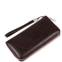 Ruofei 休闲男士钱包长款拉链手拿包商务皮夹手机包RF-015