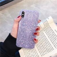 紫色闪闪星空8plus苹果x手机壳XS Max/XR/iPhoneX/7硅胶6s个性女 6/6S 4.7 IMD紫色漫