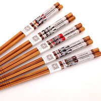 天然环保竹筷 创意防霉 家用筷子5双装 餐具套装 家庭必备