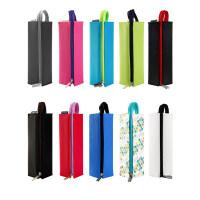 日本KOKUYO国誉笔盒可展开式方形学生文具袋大容量帆布笔袋PC22