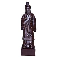 黑檀木雕扁鹊摆件家居实木雕刻人像工艺品办公室博古架玄关装饰品