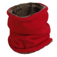 男冬季加绒厚脖套保暖多功能头套帽户外抓绒情侣围脖