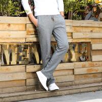 9007秋装新款战地吉普中腰休闲运动长裤 男士针织卫裤直筒运动裤