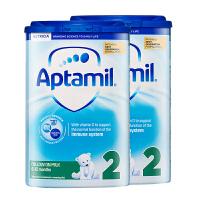 【2段普通】保税区发货英国 Aptamil爱他美 英爱普通婴儿奶粉 二段(6-12个月) 800g*2罐 海外购