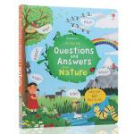英文原版绘本Lift The Flap Questions and Answers about Nature问与答翻翻