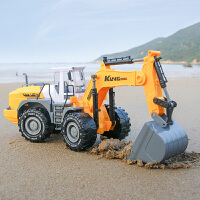 儿童玩具车大号惯性挖掘机挖土机推土机男孩工程玩具铲车汽车模型