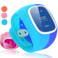 儿童智能手表电话手机插卡能打电话学生小孩手环GPS定位 生活防水 安全充电 远程监护 天蓝