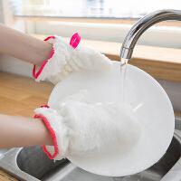 E849竹纤维洗碗清洁手套 单只加厚内置防水隔热多用挂式清洁手套