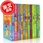 现货 罗尔德达尔套装 英文原版 Roald Dahl系列儿童小说 新版16册套装 好心眼儿圆梦巨人 查理和巧克力工厂等
