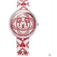 简约时尚儿童大表盘手表休闲PU表带个性米奇儿童手表学生石英表
