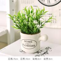 乡村田园清新仿真植物花盆栽家居饰品桌面绿植盆景装饰奶瓶小摆件