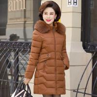 中长款外套中年人冬季棉袄中老年女装冬装棉衣40岁50妈妈羽绒棉服