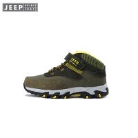 JEEP童鞋 男童网面透气运动鞋中大儿童登山跑步防滑防震鞋2017冬