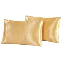 床上用品 纯色仿真丝枕套 UK/US-Q 51*76cm*2(20*30)