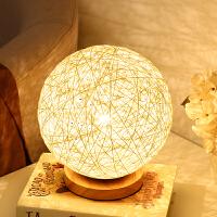 简约创意儿童房卧室床头灯北欧婚房温馨书房过道护眼led调光台灯 直径25CM+LED光源 调光开关