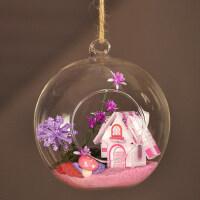 欧式创意唯美手工DIY迷你小屋玻璃球送老师情人节礼物