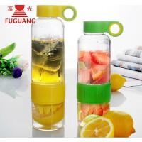富光超大容量柠檬杯 628ml榨汁杯水杯子 塑料果汁杯喝水神器