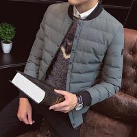 棉衣男冬季新款外套韩版修身帅气短款潮流加厚棒球领保暖棉袄