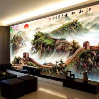 蒙娜丽莎十字绣山水画大幅客厅风景满绣十字绣万里长城江山如画图