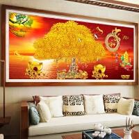 新款大幅点钻画家和富贵十字绣客厅装饰满钻摇钱树财源广进钻石画