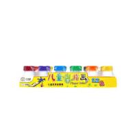 小卡尼儿童手指画颜料 可水洗绘画水彩 绘画套装 印泥 幼儿园DIY手工涂鸦 6色/12色 多款可选
