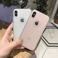 X手机壳iPhone7plus/8/6s保护套硅胶超薄全包边水钻闪潮女款 6/6s 粉