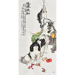 当代画家杨怀山138 X 70CM花鸟画gh02245