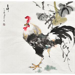 河南省书画家协会会员康一生四尺斗方花鸟画gh03823