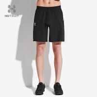 美国HOTSUIT短裤男2018夏季新款运动休闲吸湿透气修身运动五分裤5802008