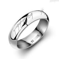 情侣戒指女 925银对戒 男士韩版戒子 指环刻字